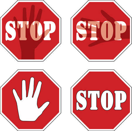 Stop signs Stock Vector - 11086201