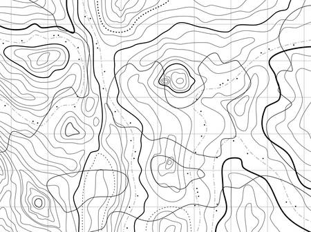 abstract topographical map with no names Vector