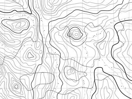 topografia: mapa topográfico abstracto sin nombres