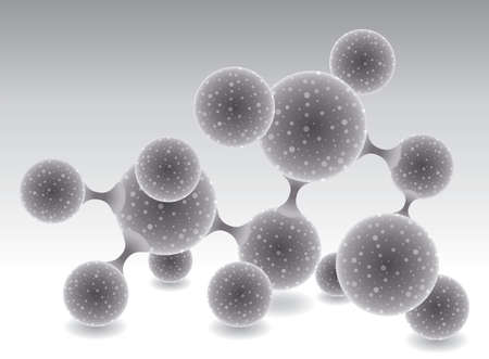 vector abstract molecule or microbe background Vector