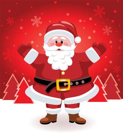 kemer: Noel Baba vektör yılbaşı resimde