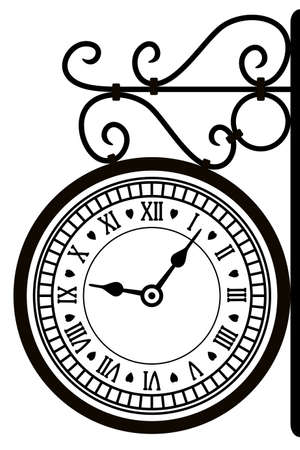 vector illustration of retro street clock Vector