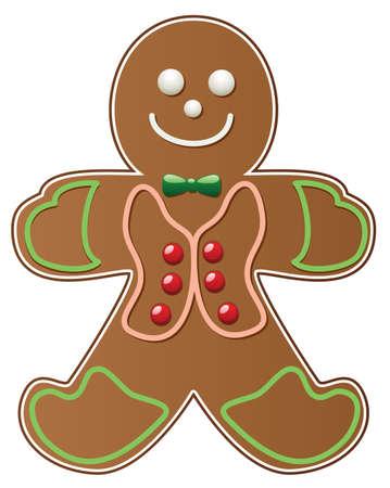 gingerbread cake: vector gingerbread cookie