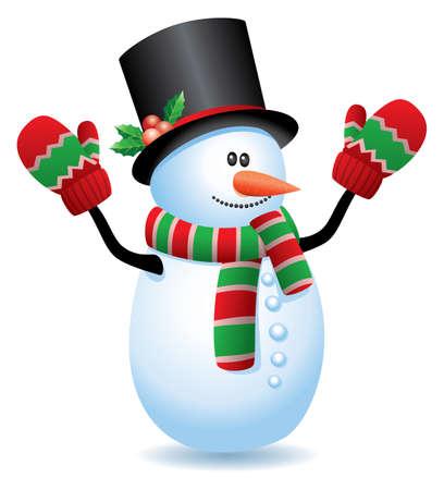 boule de neige: illustration vectorielle de bonhomme de neige