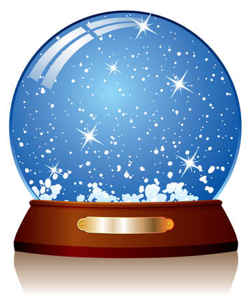 vector illustration of snow globe Vector