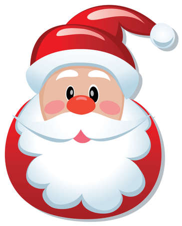beard man: vector christmas illustration of santa claus