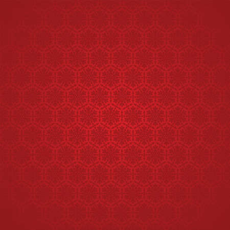 vector red seamless winter background with snowflakes Vector