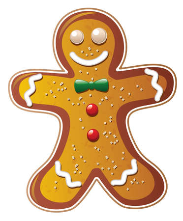 home baked: vector gingerbread cookie man