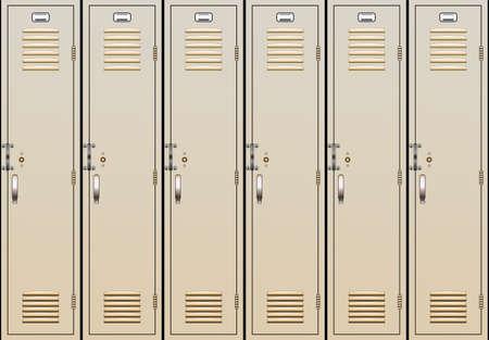 vector illustration of school lockers Vector