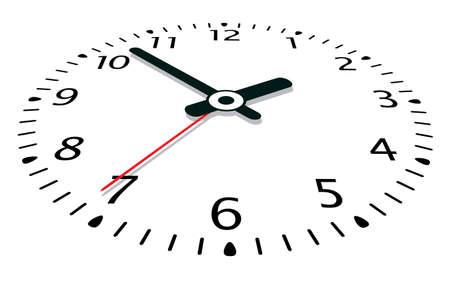 pointer stick: illustrazione vettoriale di un orologio Vettoriali