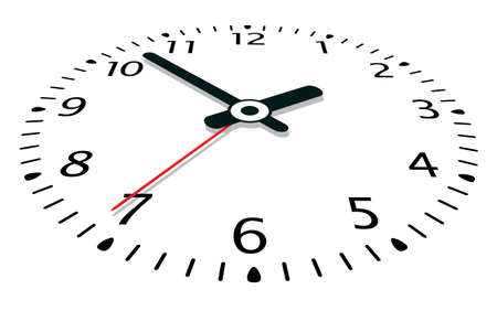 wijzerplaat: vector illustratie van een klok Stock Illustratie