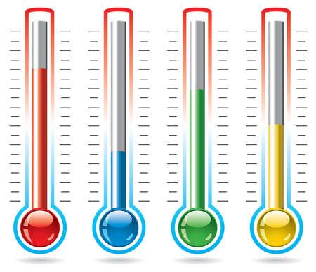 termometro: illustrazione vettoriale di termometri Vettoriali