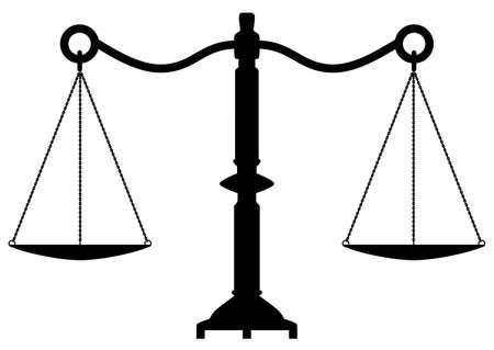 Vektor antike Waage der Gerechtigkeit Vektorgrafik