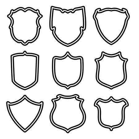 medieval banner: vector set of shields Illustration