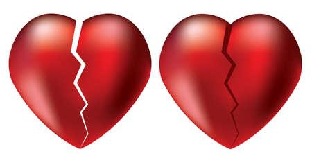 heartbreaking: vector broken hearts