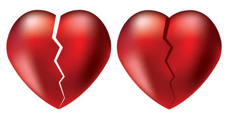 heart broken: vector broken hearts