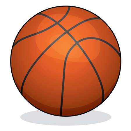 ballon basketball: illustration vectorielle de basket-ball