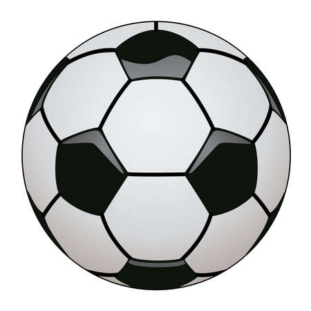 light shadow: vector illustration of soccer ball