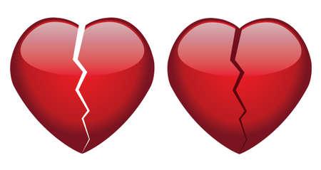 corazon roto: vector de corazones rotos