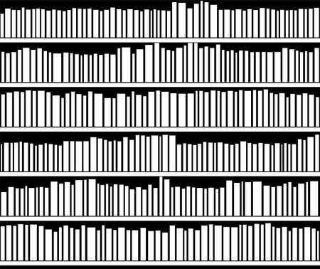 vector abstracte illustratie van zwarte en witte boekenplank