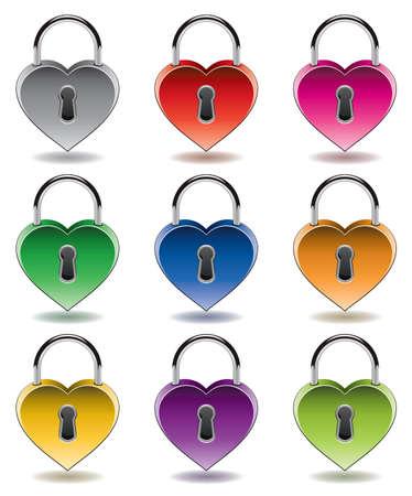 vector design of colorful metal padlocks Stock Vector - 11995768