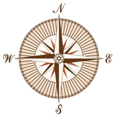 vector vintage brown compass