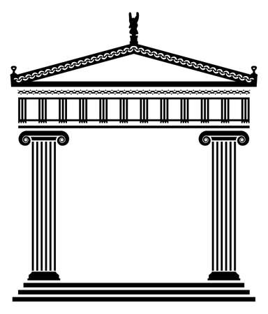 the temple: vector ancient greek architecture with columns Illustration
