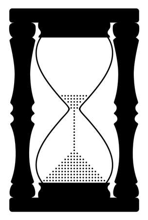 sand timer: vector illustration of abstract hourglass symbol Illustration
