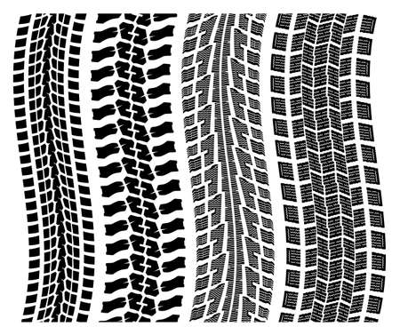 vector set of detailed tire prints Stock Vector - 12155593