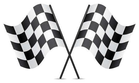 cuadros blanco y negro: banderas de vectores de carreras Vectores