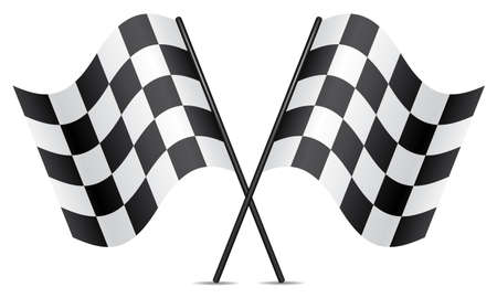 d�part course: drapeaux de course vecteur