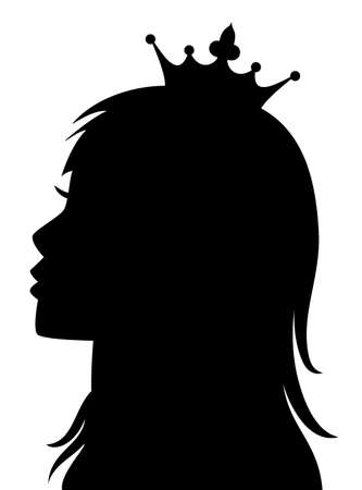 beauty queen: vector profile of princess or queen