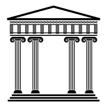grec antique: vecteur d'architecture grecque antique avec des colonnes