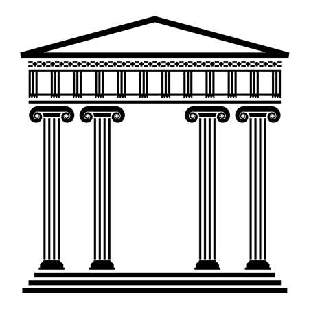 templo romano: vector de la antigua arquitectura griega con columnas