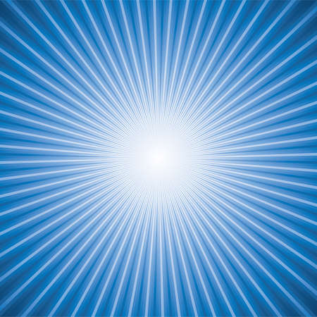 sunburst: vector abstract background of blue star burst Illustration
