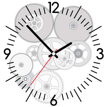 vector background of clock and gears Stock Vector - 12496965