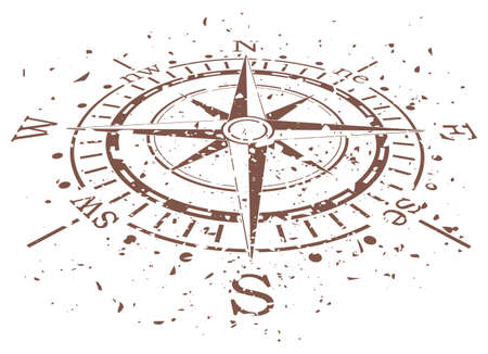 vector design of grunge compass
