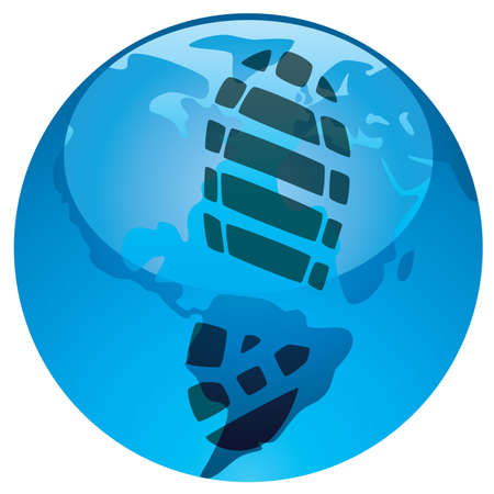 vector concept of global footprint on earth Vector