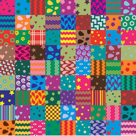 vector patchwork fabric art background Vector