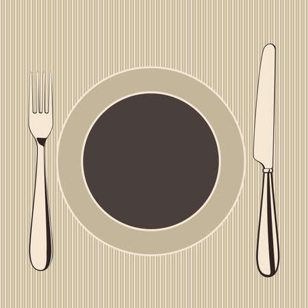 place setting: vector restaurant menu design