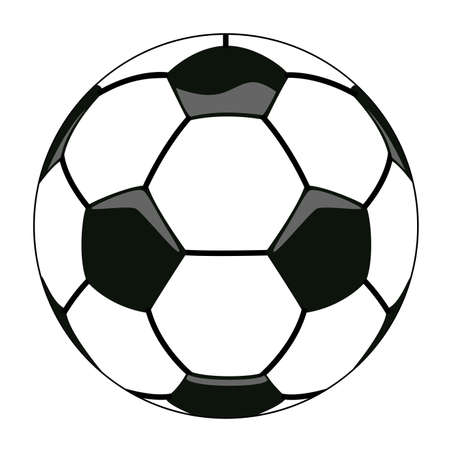 balon soccer: ilustración vectorial de la pelota de fútbol clipart