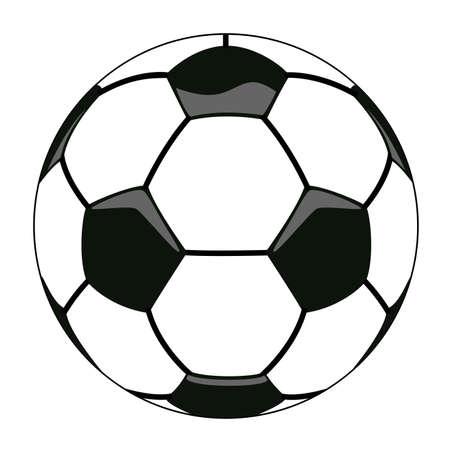 vector illustration of soccer ball clipart Stock Vector - 12496982