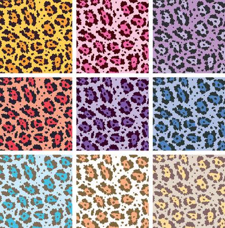 couleur de peau: vecteur color�s textures de peau des animaux de l�opard