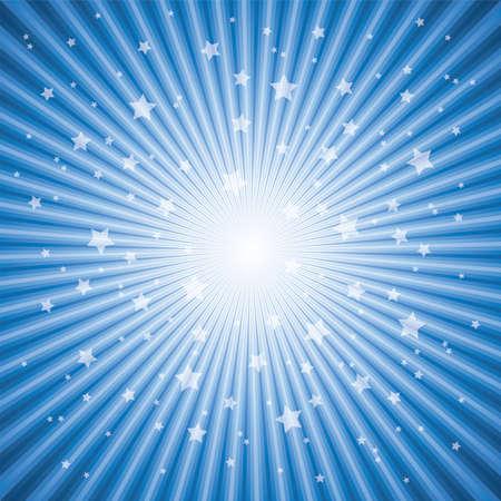 bursts: vettore sfondo astratto di Blue Star scoppio eps 10 Vettoriali