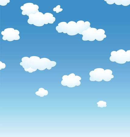 clean air: vector background with clouds in the sky