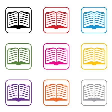 apriva: vector set di simboli libro