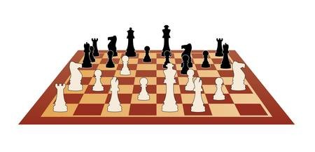 bishop chess piece: vector illustration of chess game