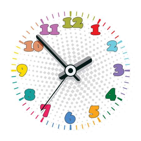 black clock hands: vector design of colorful clock