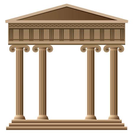 templo griego: vector de la antigua arquitectura griega con columnas