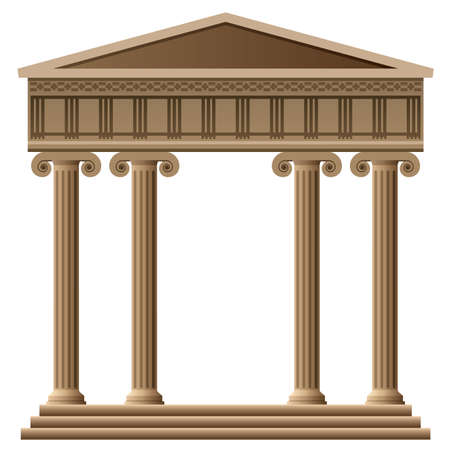 vector ancient greek architecture with columns Illustration